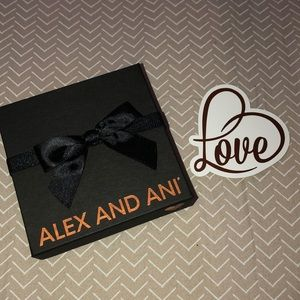 Black Alex and Ani Gift Box with Bow and Tag